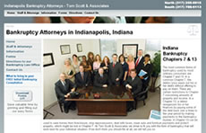 Indianapolis Bankruptcy Law Office of Tom Scott Website Thumbnail Picture